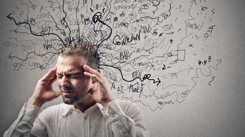 Portret mężczyzny pod wpływem stresu